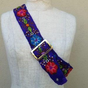 Multicolor Boho embroidered belt